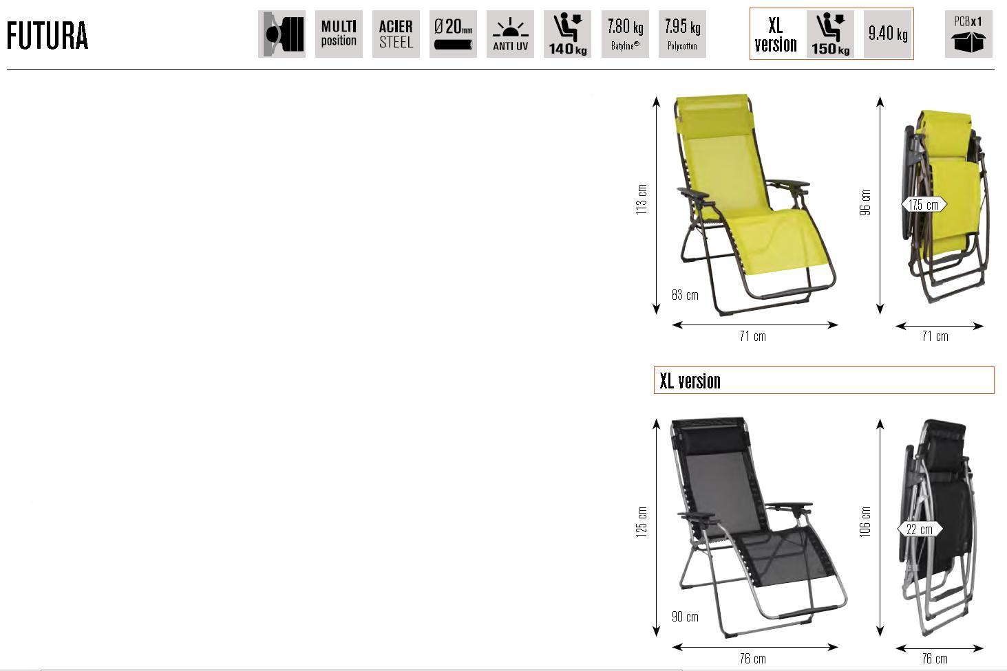 sdraio-lafuma-futura-scheda-2014-fornari-outdoor-design-rieti-tel-07461731920