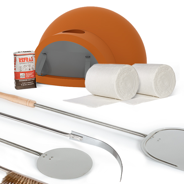 Forno a legna cupolino alfa refrattari kit fai da te for Forno a legna fai da te economico