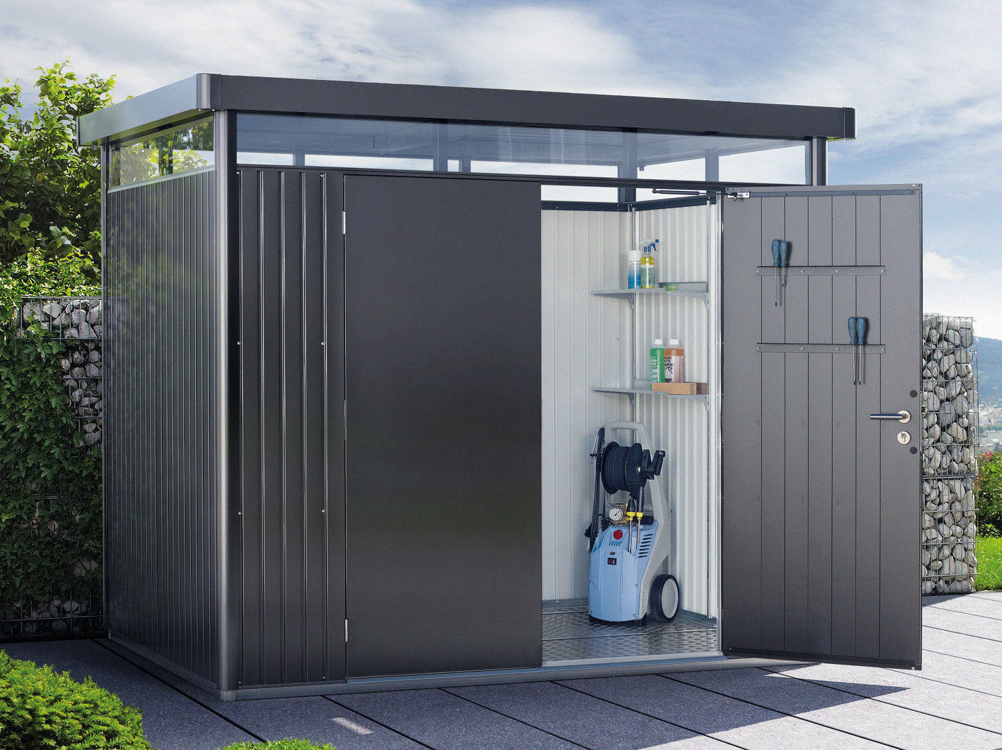 Casetta Giardino In Alluminio : Casetta highline biohort porta doppia fornari outdoor design rieti
