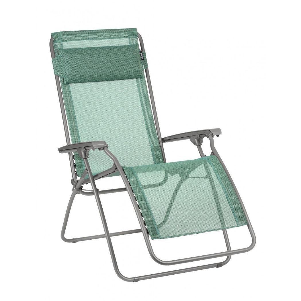 Sedie Sdraio Per Terrazzo.Sedia Sdraio Per Giardino E Terrazzo Lafuma R Clip Chlorophylle