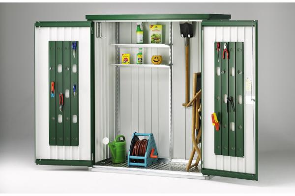 Armadio porta attrezzi biohort fornari outdoor design rieti for Armadio per giardino