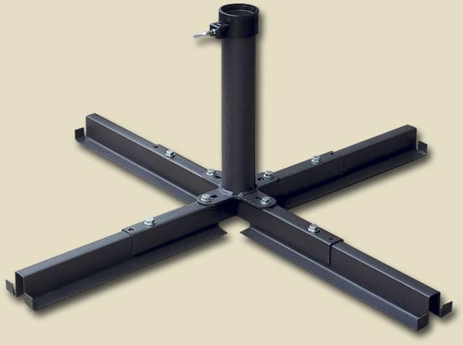 Base per ombrelloni a palo centrale rotondo antracite