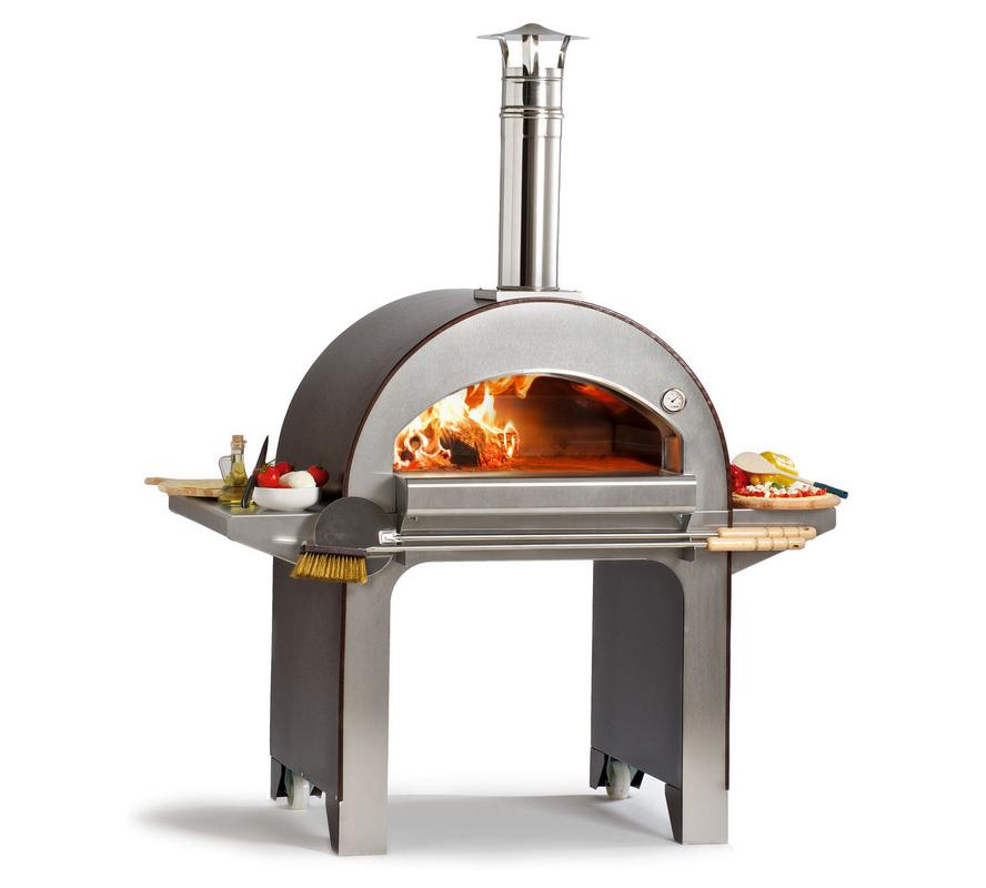 Alfa forni forno a legna da esterno 4 pizze - Forno a legna per esterno ...
