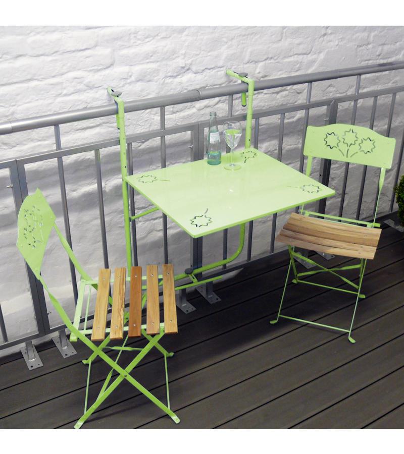 tavolo e sedie pieghevoli da balcone Cliff di My Balconia