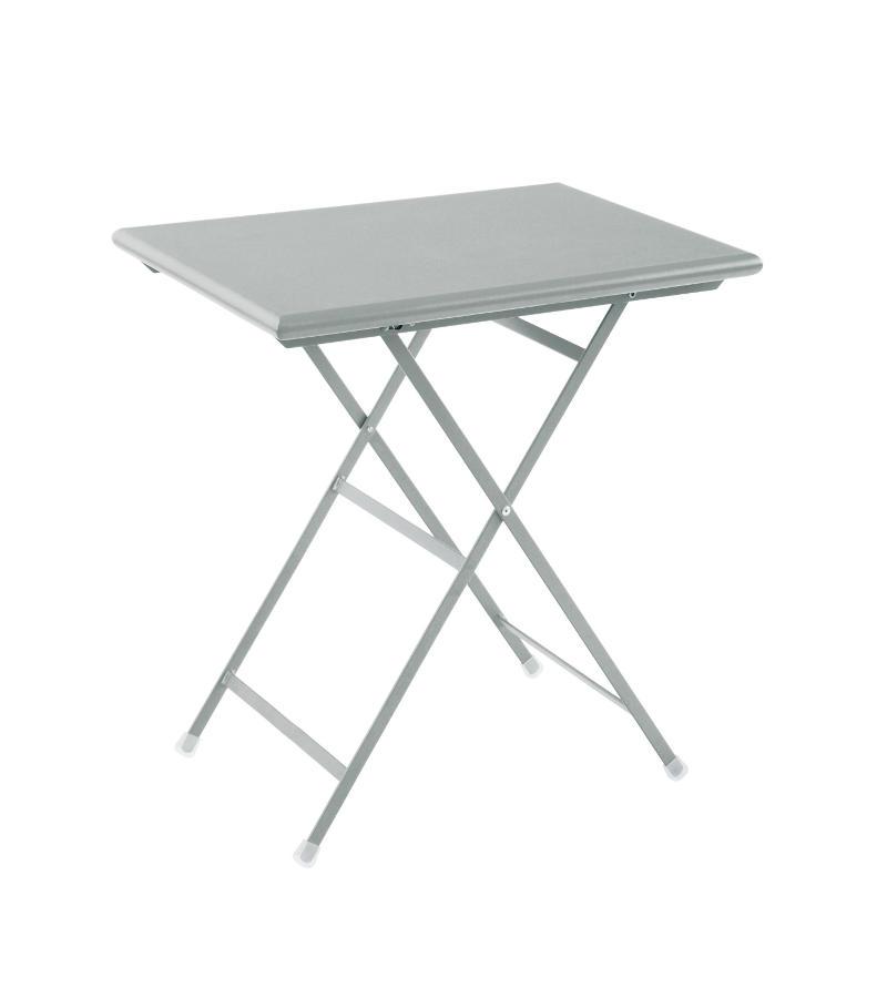 Tavoli Pieghevoli In Alluminio.Tavolo Rettangolare Pieghevole Arc En Ciel 50 X 70 Cm Di Emu